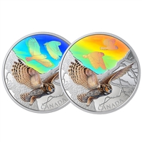 2019 $30 Majestic Birds in Motion: Great Horned Owls - Pure Silver Coin