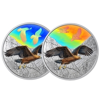 2019 $30 Majestic Birds in Motion: Golden Eagles - Pure Silver Coin