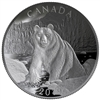 2019 $100 Nature's Grandeur: Brown Bear - Double Concave Pure Silver Coin