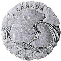 2019 $50 Polar Bears: Mother and Cub - Pure Silver Coin