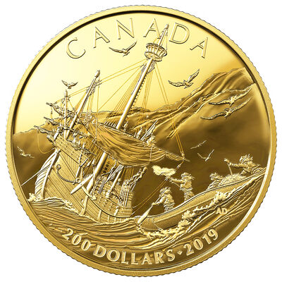 2019 $200 Early Canadian History: Arrival of the Europeans - Pure Gold Coin