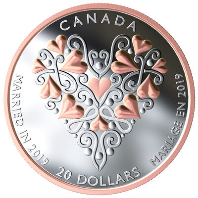 2019 $20 Best Wishes on Your Wedding Day - Pure Silver Coin