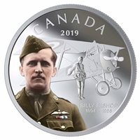 2019 $20 125th Anniversary of the Birth of Billy Bishop - Pure Silver Coin