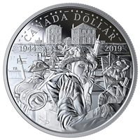 2019 $1 75th Anniversary of D-Day - Proof Silver Coin