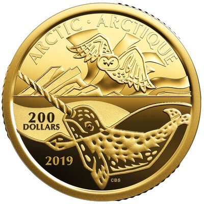 2019 $200 Canadian Coastal Symbols: The Arctic - Pure Gold Coin
