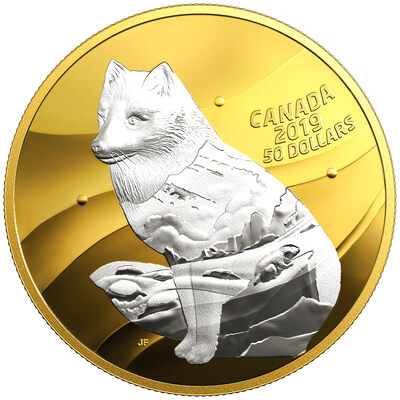 2019 $50 My Inner Nature: Arctic Fox - Pure Silver Coin