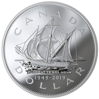 2019 $1 70th Anniversary of Newfoundland Joining Canada - Pure Silver Coin