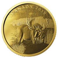 2019 $200 Canadian Moose - Pure Gold Coin
