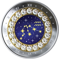 2019 $5 Zodiac Series: Aquarius - Pure Silver Coin
