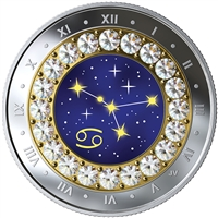 2019 $5 Zodiac Series: Cancer - Pure Silver Coin