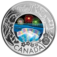 2019 $3 Celebrating Canadian Fun and Festivities: Niagara Falls - Pure Silver Coin