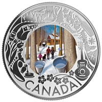 2019 $3 Celedrating Canadian Fun and Festivities: Maple Syrup Tasting - Pure Silver Coin