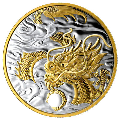 2019 $125 The Benevolent Dragon - Pure Silver Coin