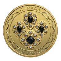 2019 $250 Her Majesty Queen Elizabeth II's Sapphire Tiara - Pure Gold Coin
