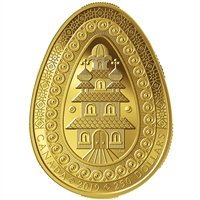2019 $250 Eternal Blessing Pysanka - Pure Gold Coin