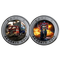 2019 25c Transforming Optimus Prime- Lenticular Coin