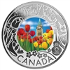 2019 $3 Celedrating Canadian Fun and Festivities: Tulips - Pure Silver Coin