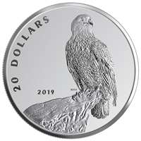 2019 $20 The Valiant One: Bald Eagle - Pure Silver Coin
