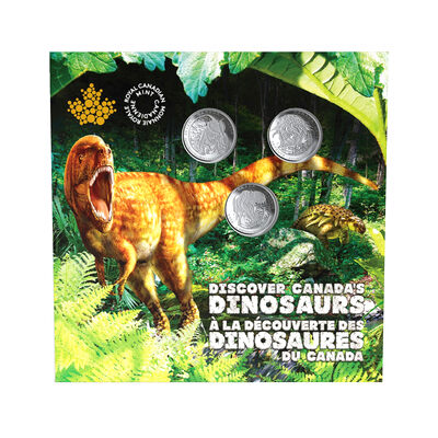 2019 25-Cent Dinosaurs of Canada Set - 3 Coin Set