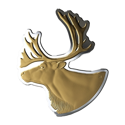 2020 Silver $50 Real Shaped Coins (02) Caribou