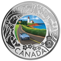 2019 $3 Celedrating Canadian Fun and Festivities: Coastal Drive - Pure Silver Coin