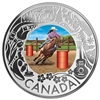 2019 $3 Celedrating Canadian Fun and Festivities: Rodeo - Pure Silver Coin