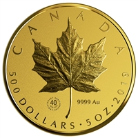 2019 $500 Gold Maple Leaf - Pure Gold Coin