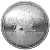 2019 $25 Fine Silver Coin - 50th Anniversary of the Apollo 11 Moon Landing