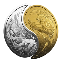 2019 Silver $10 + Gold $200 Yin and Yang