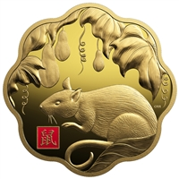 2020 $2500 Year of Rat - Pure Gold Coin
