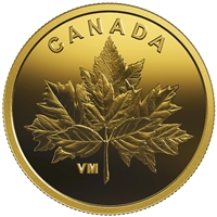 2019 Gold 25 Cent Bouquet of Maple Leaves