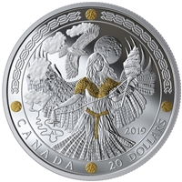 2019 $20 Norse Gods: Frigg - Pure Silver Coin