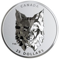 2020 $25 Multifaceted Animal Head: Lynx - Pure Silver Coin