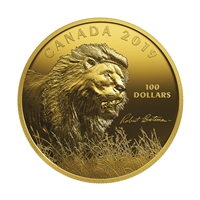 2019 Silver $100 Robert Bateman: Into the Light - Lion