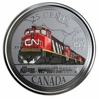 2019 25-Cent 100th Anniversary of CN Coin