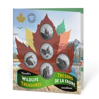 2019 Base 50 cent Canada's Wildlife Treasures 5-coin set