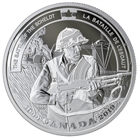 2019 $20 Second World War Battlefront Series: Battle of Scheldt - Pure Silver Coin