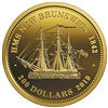 2019 Gold $200 HMS New Brunsick 1843