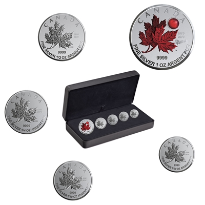 2020 O Canada - Pure Silver Fractional Set