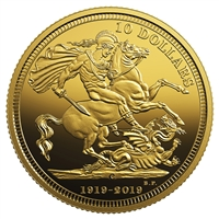 2019 $10 The 1919 Sovereign: 100th Anniversary of the Last Issue - Pure Gold Coin