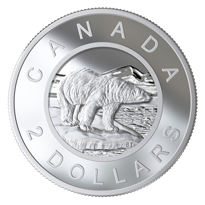 2020 $2 From The R&D Lab: Multilayered Polar Bear - Pure Silver Coin