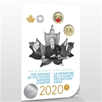 2020 75th Anniversary of the Signing Of The United Nations Charter Collector Keepsake Card