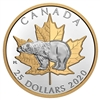 2020 $25 Timeless Icons: Polar Bear - Pure Silver Piedfort Coin
