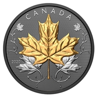 2020 $50 Maple Leaves in Motion - Pure Silver Coin