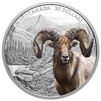 2020 $30 Imposing Icons: Bighorn Sheep - Pure Silver Coin (SINGLE)