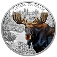 2020 $30 Imposing Icons: Moose - Pure Silver Coin (SINGLE)