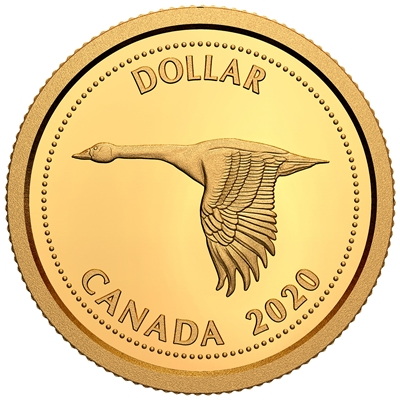 2020 $1 Tribute to Alex Colville: 1967 Dollar -  1/10th oz. Pure Gold Coin (Single)