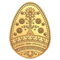 2020 $250 Tree of Life Pysanka - Pure Gold Coin