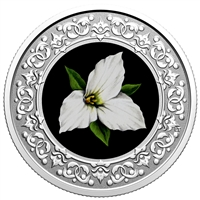 2020 $3 Floral Emblems of Canada - Ontario: White Trillium -  Pure Silver Coin
