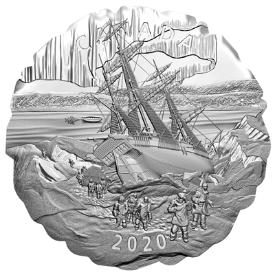 2020 $50 Franklin's Lost Arctic Expedition - Pure Silver Coin